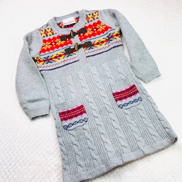 5f7ad9467d6 Hanna Andersson Other - Hanna Andersson fair isle knit sweater dress Sz 3